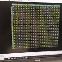 Model technického řešení elektroniky světelné mapy Evropy na monitoru BENQ